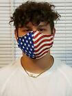XXL Face Mask American Flag Double Layer reusable washable Unisex USA Made