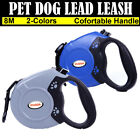 Retractable Dog Lead 8m Heavy Duty Dogs Pet Extendable Leads Strong Nylon Tape