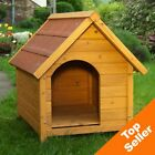 Wooden Dog House Kennel Night Warm Weatherproof Shelter Outdoor Den Cabin S-XXL