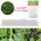 Heavy Duty Garden Trellis Netting Plant Support Garden Fence Mesh Net 15/30/60FT