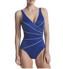 Miraclesuit Women's Swimsuit Size 12 14 16 Horizon Dark Blue One Piece