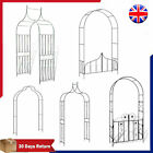 Garden Arch Iron With/without Gate Black Outdoor Pergola Climbing Plants Archway