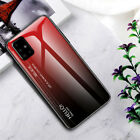 For Samsung S21 Ultra S20 FE 5G A21S A11 A51 A71 Case Tempered Glass Hard Cover