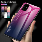 For Samsung Galaxy S20 FE 5G A21S A11 A51 A71 5G Case Tempered Glass Hard Cover