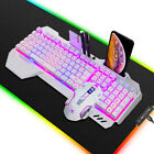 US K618 3in1 RGB Gaming Keyboard and Mouse Set Mice Pad Wired Backlit for PS4 PC