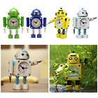 Bedroom Robot Alarm Clock Tabletop Wake-up Clock Decor Battery Powered