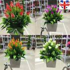 Realistic Artificial Potted Flowers Home Garden Decor Uk Plants In Pot Outdoor