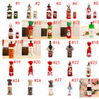 Christmas Wine Bottle Cover Table Decor Xmas Bags Snowman Santa  Gift New Year