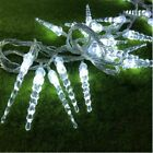 Outdoors Waterproof Christmas Lights Transparent Icicle LED Lamps Holiday Decors