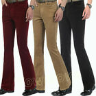 Mens Corduroy Bell Bottom Flared Pants 60s 70s Retro Bootcut Trousers Hippie