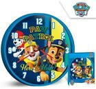 BOYS CHILDRENS KIDS PAW PATROL BEDROOM WALL CLOCK 25 CM BLUE NEW BOXED CHASE