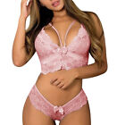 Womens Sexy Lingerie Nightwear Underwear Lace Panties Babydoll Sleepwear Bra Set