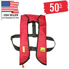 Adult-Inflatable-Life-Jacket-Automatic-Manual-Vest-Lifesaving-PFD-Red-Color