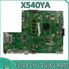 Motherboard For ASUS GM X540YA Laotop Mainboard D540Y R540Y E1/A8 CPU 4G/8G RAM