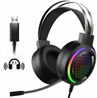 USB Jack Gaming Headset With Mic Headphone For PC Laptop Nintendo PS4 Xbox One