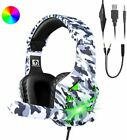 3.5mm With Mic Headphone Gaming Headset For PC Laptop Mac Nintendo PS4 Xbox One