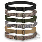 BRITISH MILITARY STYLE RIGGER BELT WEBBING COMBAT TACTICAL SWAT FIRE ROLL PIN