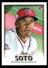 JUAN SOTO MINT NATIONALS ROOKIE CARD #126 RC SP 2018 TOPPS GALLERY. rookie card picture