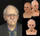 Old Man  Full Face Mask Latex Halloween Cosplay Party Realistic Headgear Props