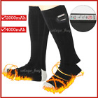 Rechargable Battery Electric Heated Socks Boot Feet Warmer Long Winter Outdoor