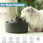 Pet Dog Cat Automatic Eletric Water Fountain Feeder Ceramic Drinking 1