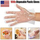 100 - 1000 Plastic Clear Disposable Gloves Food Hygiene Cleaning Catering Beauty