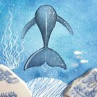 Whale - Underwater Painting - Original Watercolour with Beach Pottery (No. 1350)