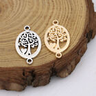 20Ps Tree of Life Charm Connector for Jewelry Making Bracelet DIY Accessories