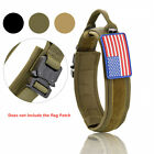 Tactical Military Dog Collar Heavy Duty with Handle Cobra Buckle For Large Dogs