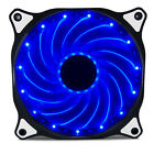 Vetroo 15 LED 120mm PC Computer Case Cooling Neon Quite Clear Fan Mod 4 / 3 Pin