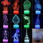 Home Decor 3D illusion Visual Night Light 7 Colors LED Desk Table Lamp Xmas Gift