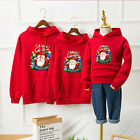 Adult Kids Family Matching Christmas Jumper Sweater Hoodie Pullover Tops