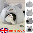 Large Cat Bed Cave Small Wool Cozy Pet Igloo Bed Winter House Nest Kennel UK
