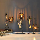 Vintage Metal Candle Holder Candlestick Abstract Sculpture Character Home Decor