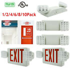 Universal LED Exit Sign Emergency Light–RED / Dual Head Compact Combo UL LOT New