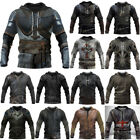 Medieval Viking Knight Templar Hooded Sweatshirt Pullover Hoodie T-shirt Cosplay