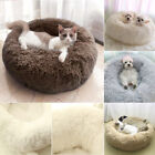 Round Bed For Dog Cats Comfy Fluffy Mattress Sleeping Orthopedic Nest Cushion