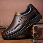 Men Cow Leather Waterproof Comfy Non Slip Soft Slip On Casual Business Shoes