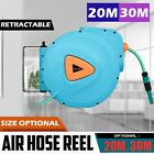 20/30m Air Hose Reel Auto Retractable Rewind Air Line Compressor Wall Mounted