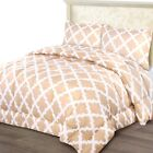 Utopia Bedding Printed Comforter Set (King/Cal King, Beige) with 2 Pillow Shams