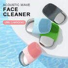 Electric Silicone Facial Cleansing Brush Ultrasonic Face Cleaner Massager Device