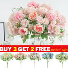 Silk Peony Fake Artificial Flowers Bunch Bouquet Home Party Outdoor Decorations