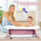 2-in-1 Baby Bath Tub Collapsible Toddler Bathtub Foldable Infant Shower Basin