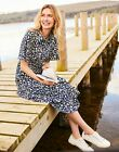 Joules Womens Carla Fitted Short Sleeve Dress  Leopard