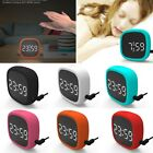 Touch Screen LED Digital Alarm Clock Silicone Sound Control Electronic Clock USB