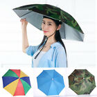 Sun Umbrella Hat Outdoor Foldable Head Strap Golf Fishing Camping Headwear Cap