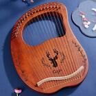 Portable Small 16/19 String Lyre Harp and Tuning Wrench Gifst for Kids Friend