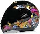 DOT Approved Tattoo Flash Carbon Motorcycle Helmet