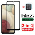 For Samsung Galaxy A12 Shockproof Cover Tempered Glass Camera Lens Protector