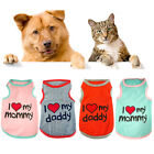 'Letter' Pet Dog Clothes Puppy T Shirt Clothing Small Dogs Puppy Chihuahua Vest